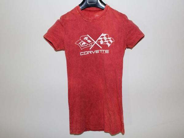 DOE corvette レディース半袖Tシャツ レッド Mサイズ 新品_画像1