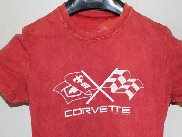 DOE corvette レディース半袖Tシャツ レッド Mサイズ 新品_画像2
