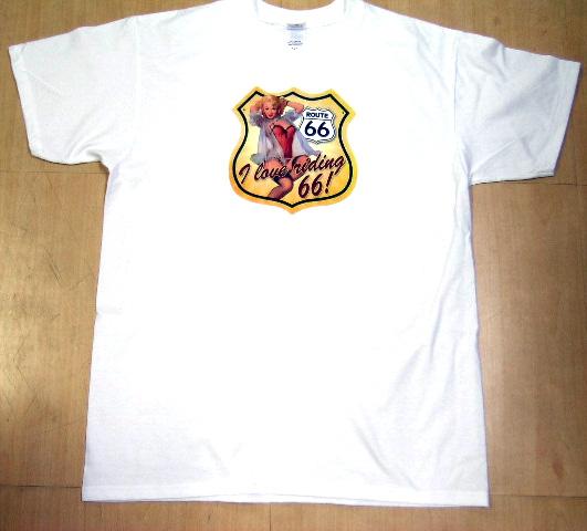 * ホットロッド系Tシャツ白109 ルート66 ロカビリー アメカジ アメ車 ハーレー hotrod アメリカン チョッパー オールディーズ 看板 標識 _画像1