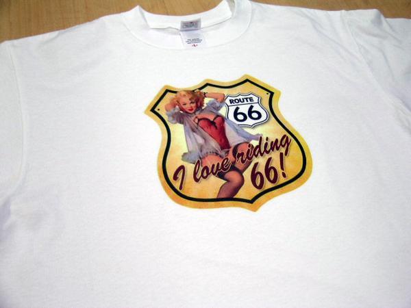 * ホットロッド系Tシャツ白109 ルート66 ロカビリー アメカジ アメ車 ハーレー hotrod アメリカン チョッパー オールディーズ 看板 標識 _画像2