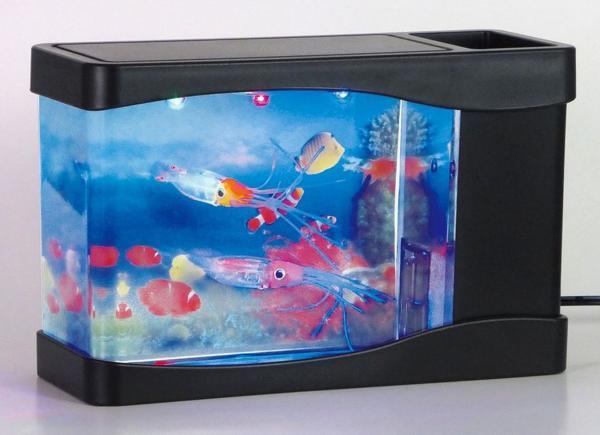 即決新品★AC/DCの2電源可能★室内水族館★アクアリウム★イカ_画像2