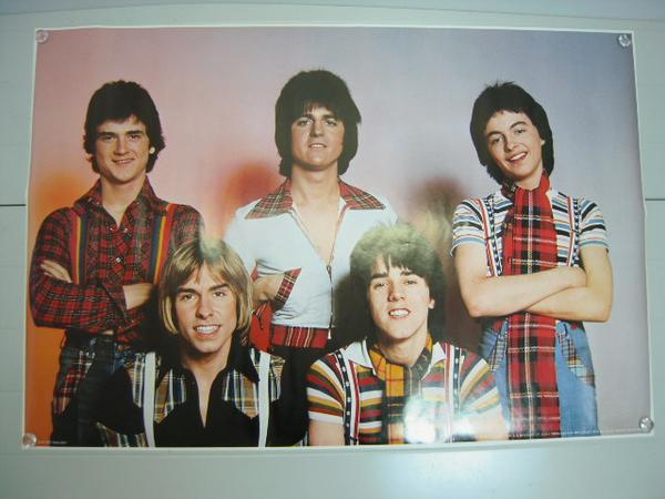 当時物 ベイシティローラーズ 1976年 ポスター