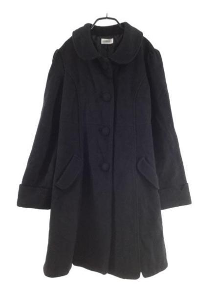 ロディスポット ウール混 コート sizeM/黒 ◆■