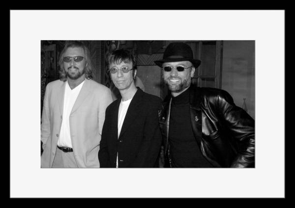 BW:人気ボーカルグループ!ビージーズ/Bee Gees/モノクロ写真フレーム-5