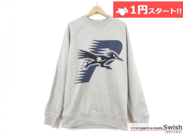 A895●PALACE SKATEBOARDS パレス●新品 ROADRUNNER CREW  スウェット L GREY●