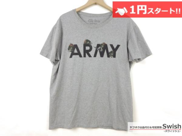 A501●ジョジョの奇妙な冒険 第4部 × ultra BRAND ●虹村形兆 BAD COMPANY ARMY Tシャツ L 灰●