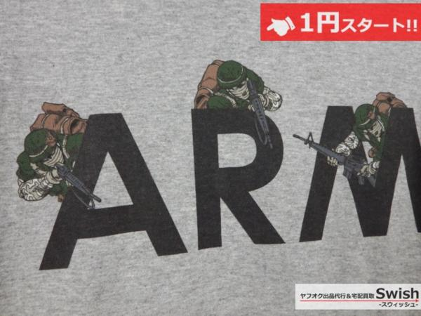 A501●ジョジョの奇妙な冒険 第4部 × ultra BRAND ●虹村形兆 BAD COMPANY ARMY Tシャツ L 灰●_画像3