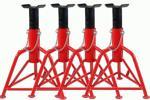 3トン ジャッキスタンド 馬ジャッキ リジットラック 3t 4個セット 3段階調整 ウマ ジャッキアップ 車 タイヤ 交換 自動車整備