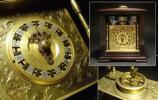 ∇花∇最高の和時計 江戸期 枕時計 割駒式文字盤鎖引真鍮毛彫り唐草文ケース 大名時計