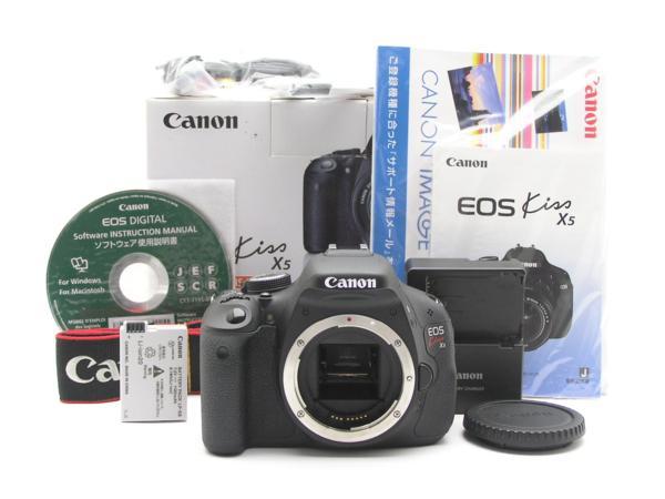 ★ハロ-カメラ★5835 Canon EOS Kiss X5 Body 1800万画素(有効画素) 箱説付 動作品