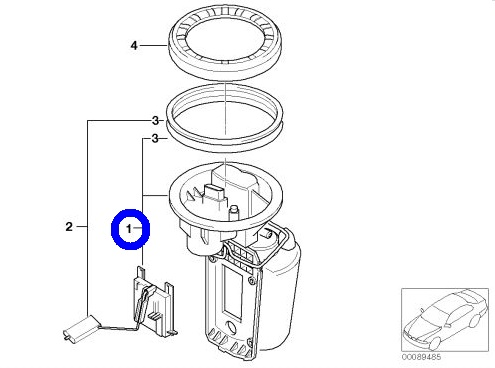 VDO 燃料ポンプ フューエルポンプ 1614-6766-176/BMW ミニ MINI R50 前期 1.6 ONE COOPER_画像3