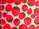 ★カット布♪ナイロンオックス♪大きなイチゴ♪120×30★