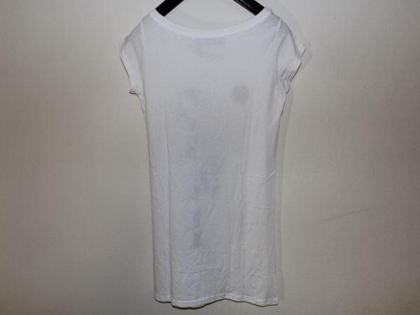 サンデー21 SUNDAY21 レディースオーバー半袖Tシャツ ホワイト Sサイズ イタリア製 新品_画像4