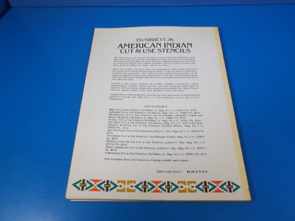 1981年 AMERICAN INSIAN Cut&Use Stencils ED SIBBETT_画像2