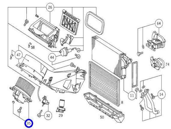 【代引き】W638 MEYLE製 ACブロワーモーター新品 003-830-0308_画像3