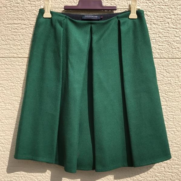 即決 TOMORROWLAND COLLECTION スカート 34 グリーン 緑 何点同梱でも佐川急便¥730(沖縄、離島を除く)