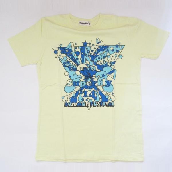 superfly 2014 夏フェス Tシャツ イエロー スーパーフライ グッズ ライブグッズの画像