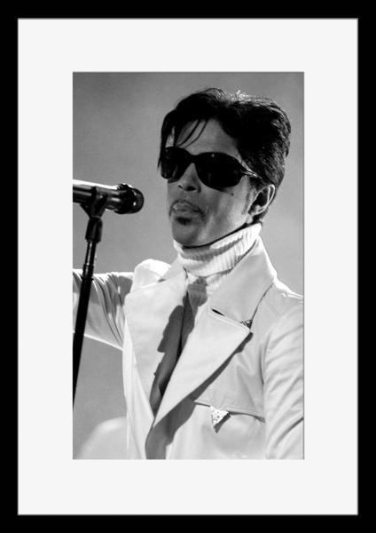 BW:人気ロックバンド!プリンス&ザ・レヴォリューション/Prince and The Revolution/モノクロ写真フレーム-3