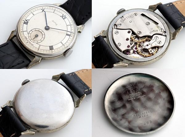 【<】1940年代英国スミス社製腕時計1215(SSベゼル&バック)_SMITHS-2200B-c
