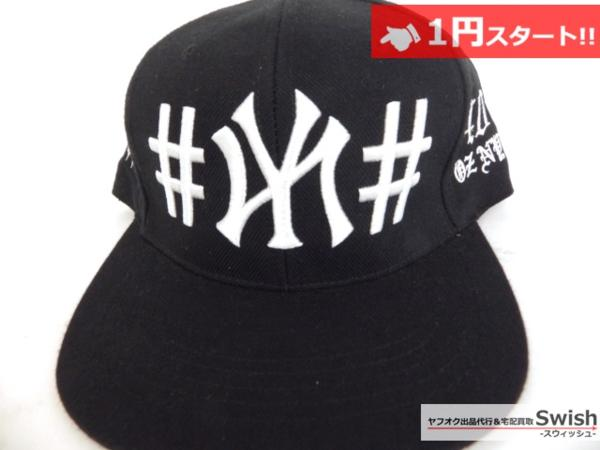 A895●40oz NYC フォーティーオンス x BeenTrill ビーントリル●美品 NEW YORK YANKEES SNAPBACK CAP ヤンキース キャップ ① 黒●_画像2