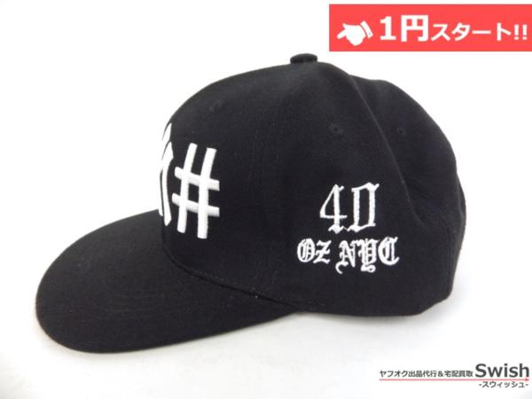 A895●40oz NYC フォーティーオンス x BeenTrill ビーントリル●美品 NEW YORK YANKEES SNAPBACK CAP ヤンキース キャップ ① 黒●_画像4
