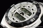 1円 カシオ 逆輸入 アナデジ 100m防水 デュアルタイム 新品 タイマー&アラーム 腕時計