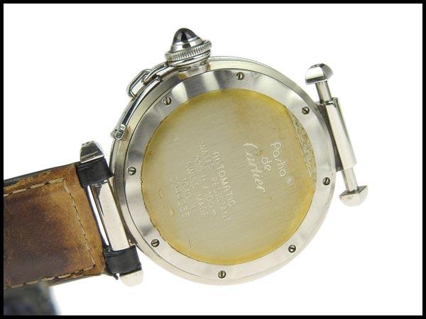 091円☆03楽市☆本物 カルティエ Cartier パシャC メンズ オートマ 腕時計 1040 グレー文字盤 旧型_画像4