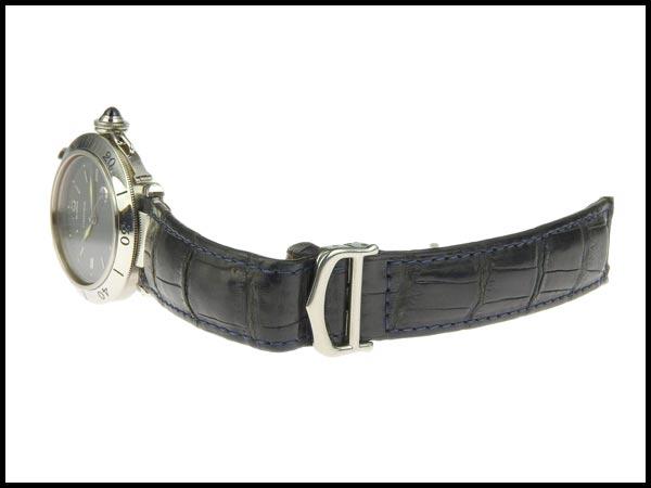 091円☆03楽市☆本物 カルティエ Cartier パシャC メンズ オートマ 腕時計 1040 グレー文字盤 旧型_画像5