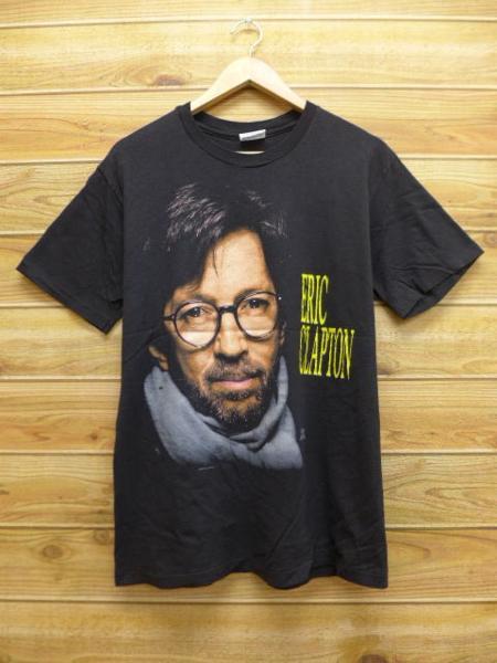 L★古着 中古 ビンテージ ロック バンド Tシャツ 90年代 エリッククラプトン USA製 黒 17jun29 ライブグッズの画像