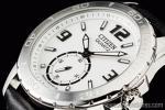 1円 シチズン CITIZEN ホワイトダイヤル&ブラック 本革 スポーツ 腕時計
