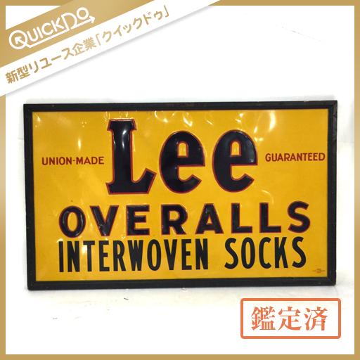 1円 Lee リー OVERALLS INTERWOVEN SOCKS アンティーク 看板 約90×151cm