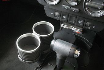 【M's】VW ニュービートル(1998y-2010y)/ポロ 6R 5代目 リア用(2009y-)ALCABO 高級 ドリンクホルダー(シルバー)//アルカボ AL-B109S_※画像はブラック+リングの取付けサンプル