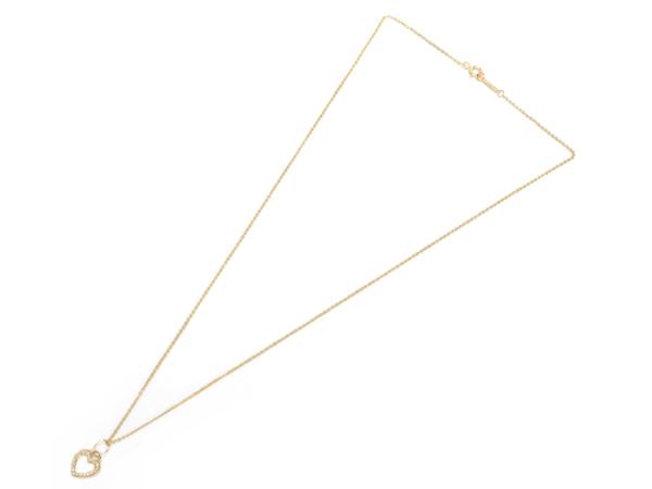 ティファニー Tiffany センチメンタルハート K18YG/ダイヤ ネックレス【及川質店】送料無料_画像2
