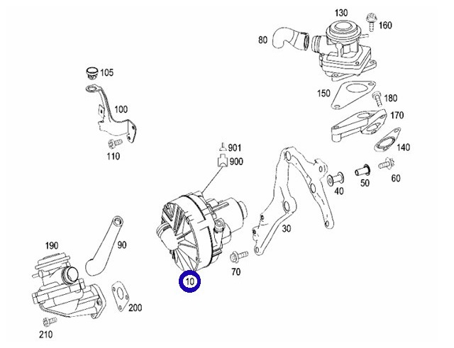 Pierburg(ピアブルグ)製 エアポンプ エアーポンプ新品 (M272/M273) W209 CLKクラス CLK350/R171 SLKクラス SLK280 SLK350 (000-140-5185)_画像2