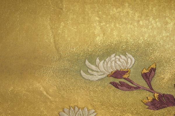 超特選『山口伊太郎』本金箔錦地薫菊文模様袋帯[O10591]_『山口伊太郎』本金箔錦地薫菊文模様袋帯