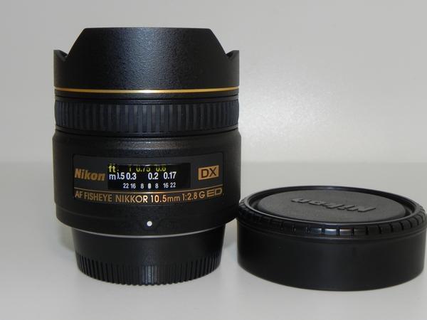 **Nikon AF DX Fisheye-Nikkor 10.5mm F2.8G レンズ(保証書有)*