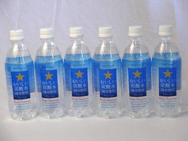 サッポロおいしい炭酸水 ペットボトル 500ml×24本_画像1