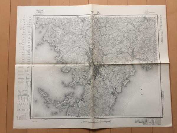 ∞ Me 長崎 五万分一地形図 昭和34年 長崎県_画像2