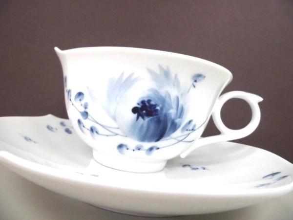 【マイセン】カップ&ソーサー 青い花 未使用品  ブルーフラワー ティーカップ&ソーサー▲_画像2