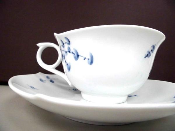 【マイセン】カップ&ソーサー 青い花 未使用品  ブルーフラワー ティーカップ&ソーサー▲_画像3