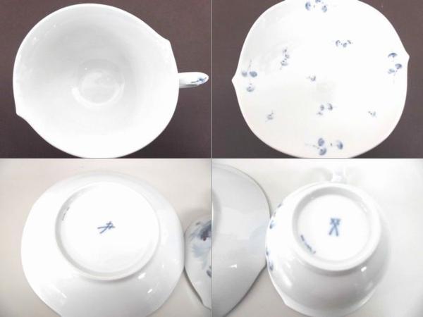 【マイセン】カップ&ソーサー 青い花 未使用品  ブルーフラワー ティーカップ&ソーサー▲_画像5