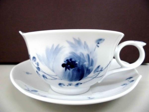 【マイセン】カップ&ソーサー 青い花 未使用品  ブルーフラワー ティーカップ&ソーサー▲_画像6