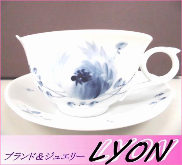 【マイセン】カップ&ソーサー 青い花 未使用品  ブルーフラワー ティーカップ&ソーサー▲_画像1