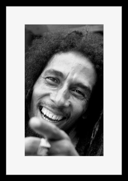 BW:人気ジャマイカ・レゲエバンド!Reggae/ボブ・マーリー&ザ・ウェイラーズ/Bob Marley & The Wailers/モノクロ写真フレーム-2