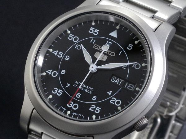 新品 正規品 セイコー SEIKO 逆輸入モデル ミリタリーブラックダイヤルステンレス三針デイデイト 機械式(自動巻き) メンズ 腕時計