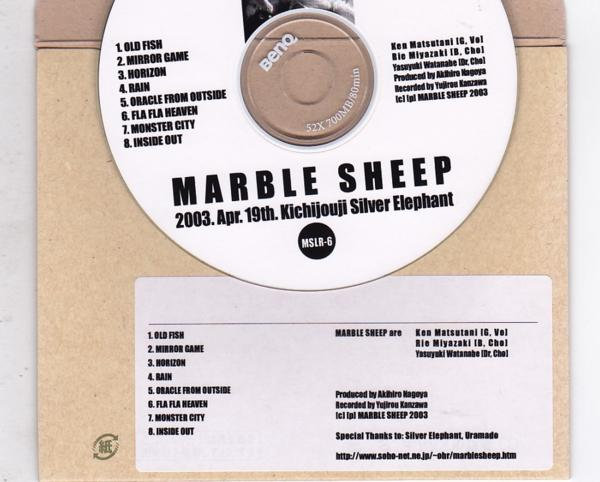 CD-R/MARBLE SHEEP / 2003.Apr.19th.Kichijouji Silver Elephant_画像2