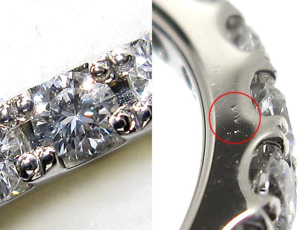 【銀トレ】計1.00ct天然ダイヤモンド/Pt900/フルエタニティリング_画像2