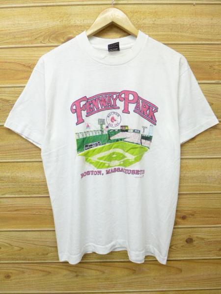 L★古着 ビンテージ Tシャツ 80年代 MLB ボストンレッドソックス フェイウェイパーク USA製 白 ホワイト 中古 メンズ 半袖 グッズの画像