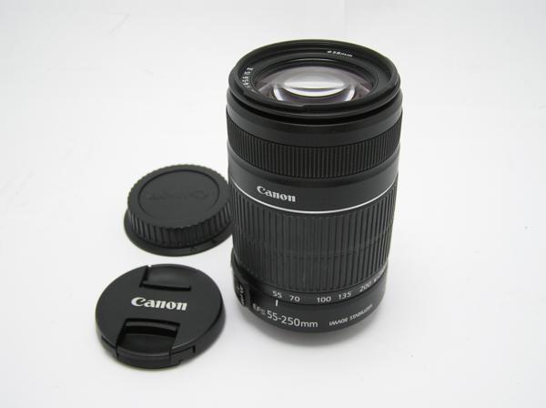 ★ハロ-カメラ★5828 Canon EF-S(55-250mm/4-5.6 IS Ⅱ) 手振れレンズ .動作品 現状 美品