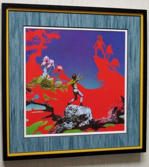 ユーライア・ヒープ/魔の饗宴/名盤 レコジャケ・ポスター額装/Uriah Heep/MAGICIAN'S BIRTHDAY/ロジャーディーン/Framed Roger Dean